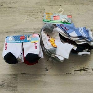 Hanes NWT boys socks bundle 16pr 4T-5T